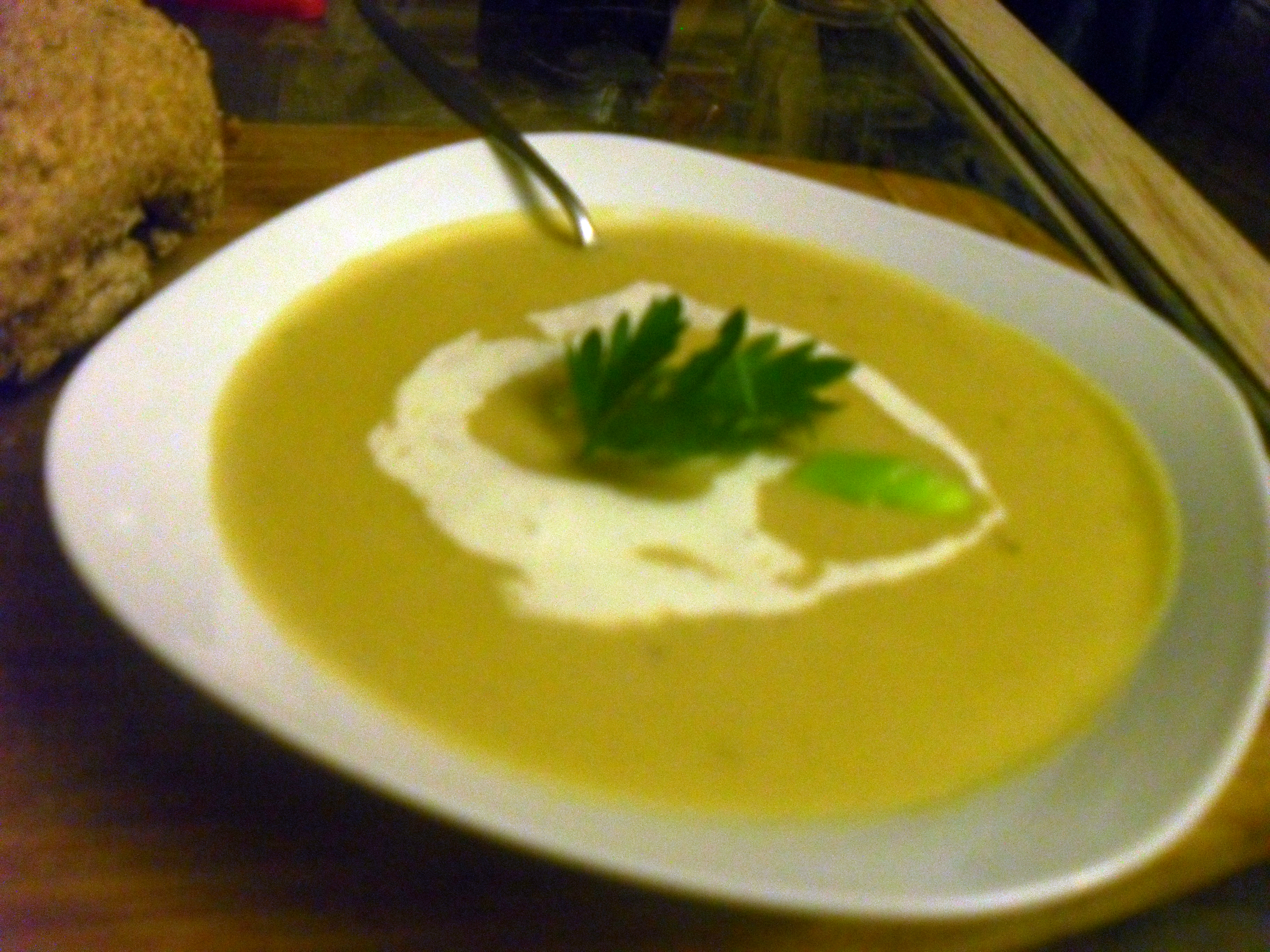 Brotchan Foltchep (Leek and Oatmeal Soup) is a creamy, delicious ...
