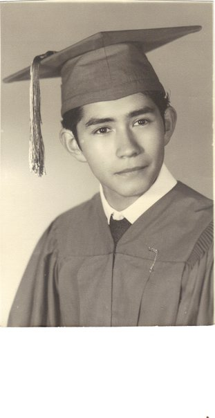 My Uncle Kiki in his high school graduation photo.