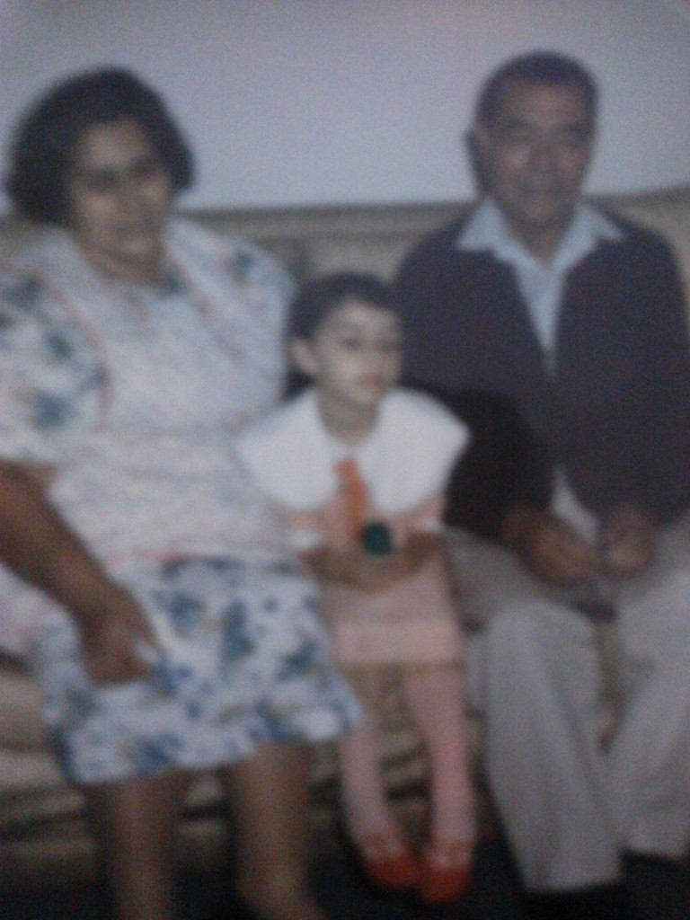 My grandparents and me.