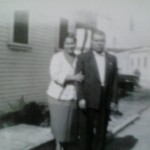 My grandparents at the house on Goodwin Avenue, probably in the 1940's