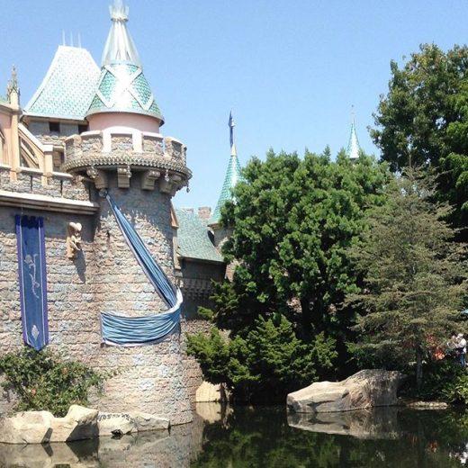 Sleeping Beauty's castle at Disneyland.